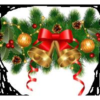 Новогоднее украшение сайта(два в одном)
